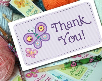 Butterfly Thank You Cards or Tags for Handmade Gifts or Products