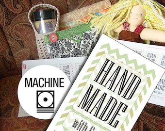 Laundry Tag Printables: Machine Wash for Handmade Items With Chevrons