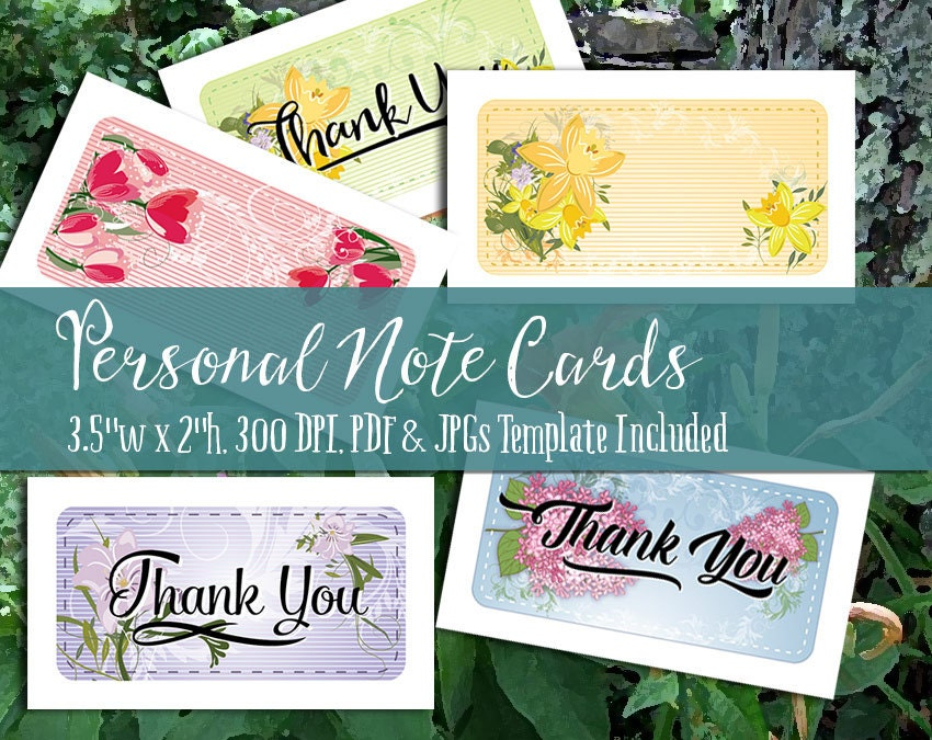 Personal note cards and thank you notes printable pdf and jpgs personal note cards and thank you notes printable pdf and jpgs 300 dpi business card size works with avery business cards 5 styles colourmoves