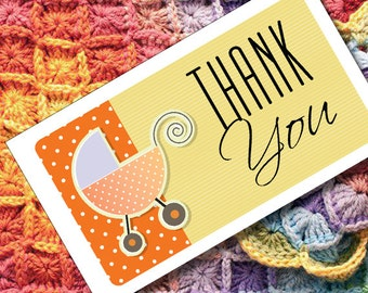Thank You Cards or Tags for Handmade Baby Shower Gifts or Products