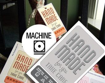 Retro Hand Washing Printable Laundry Care Tags