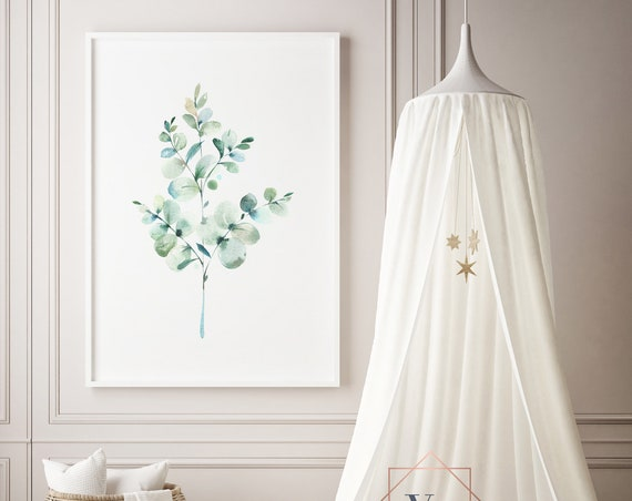 Eucalyptus Botanical Print- Nursery Decor Print Wall Art Baby Girl - Boy Room Printable Home Decor - DIGITAL DOWNLOAD