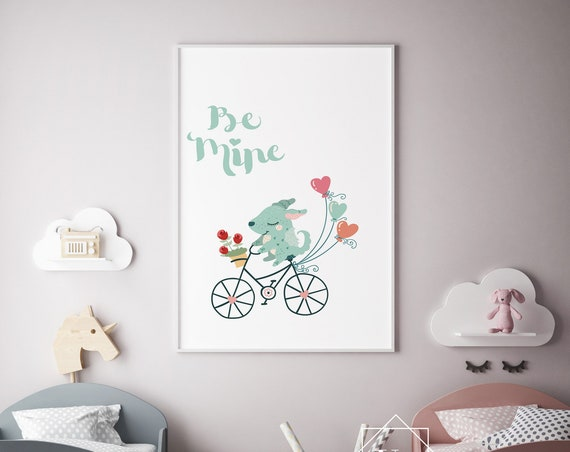 Be Mine Animal Print- Nursery Decor Print Wall Art Baby Girl - Boy Room Printable Home Decor - DIGITAL DOWNLOAD