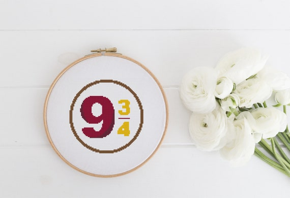 Platform 9 3/4 - Harry Potter Cross Stitch Pattern - Modern Cross Stitch - Childrens Decor Nursery - Instant Download -