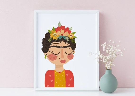 8 x 10 Frida Kahlo 2 - Nursery Print- Nursery Kids Room Baby Wall Art Decor - DIGITAL DOWNLOAD