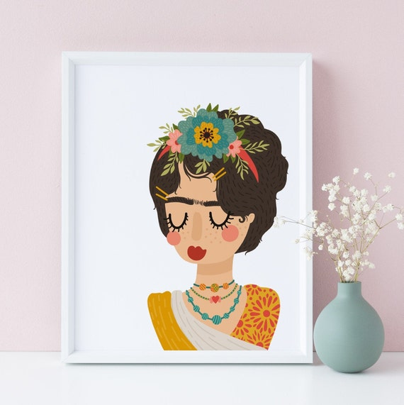 8 x 10 Frida Kahlo  - Nursery Print- Nursery Kids Room Baby Wall Art Decor - DIGITAL DOWNLOAD