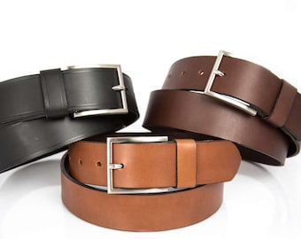 40mm New Handmade Colourful Leather Press Stud Jeans Wear Belts Silver Buckle