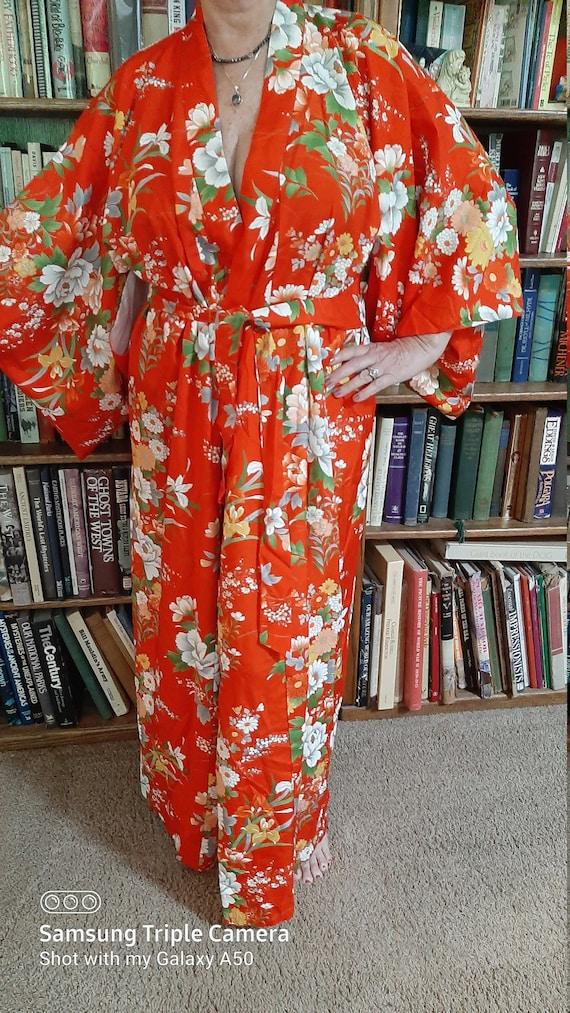 Vintage 60's-70's Japanese Silk Furisode Kimono-Ca