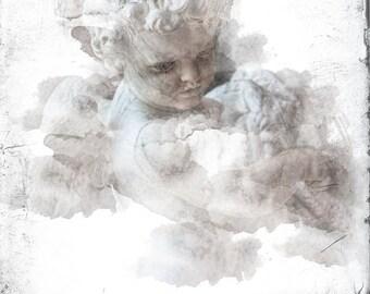 Paris Photography, Paris Photo, Paris Art, Child Cherub, Cherub Art, Angel Art, Angel Photo, Angel Print, cherub Print, Angel Photography
