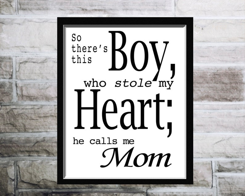 So Theres This Boy Quotecalligraphic Artprintable Etsy