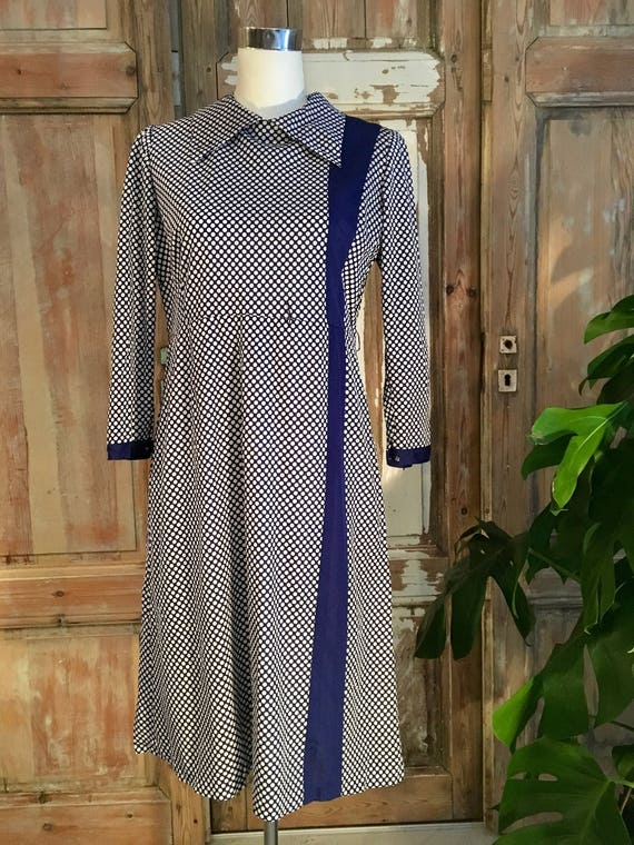 Seventies polka dot dress