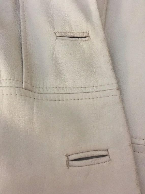 Coat trench leather beige seventies - image 6