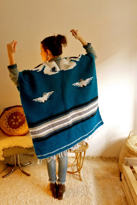 Mexican Poncho vintage woolen cloth