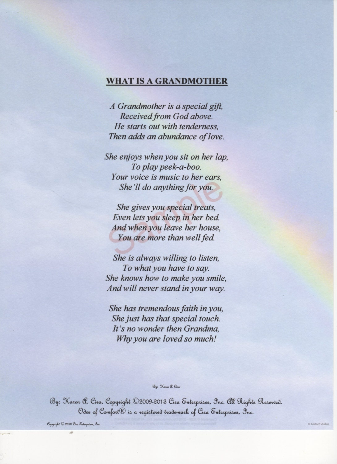 Five Stanza What Is A Grandmother Poem Shown On Etsy