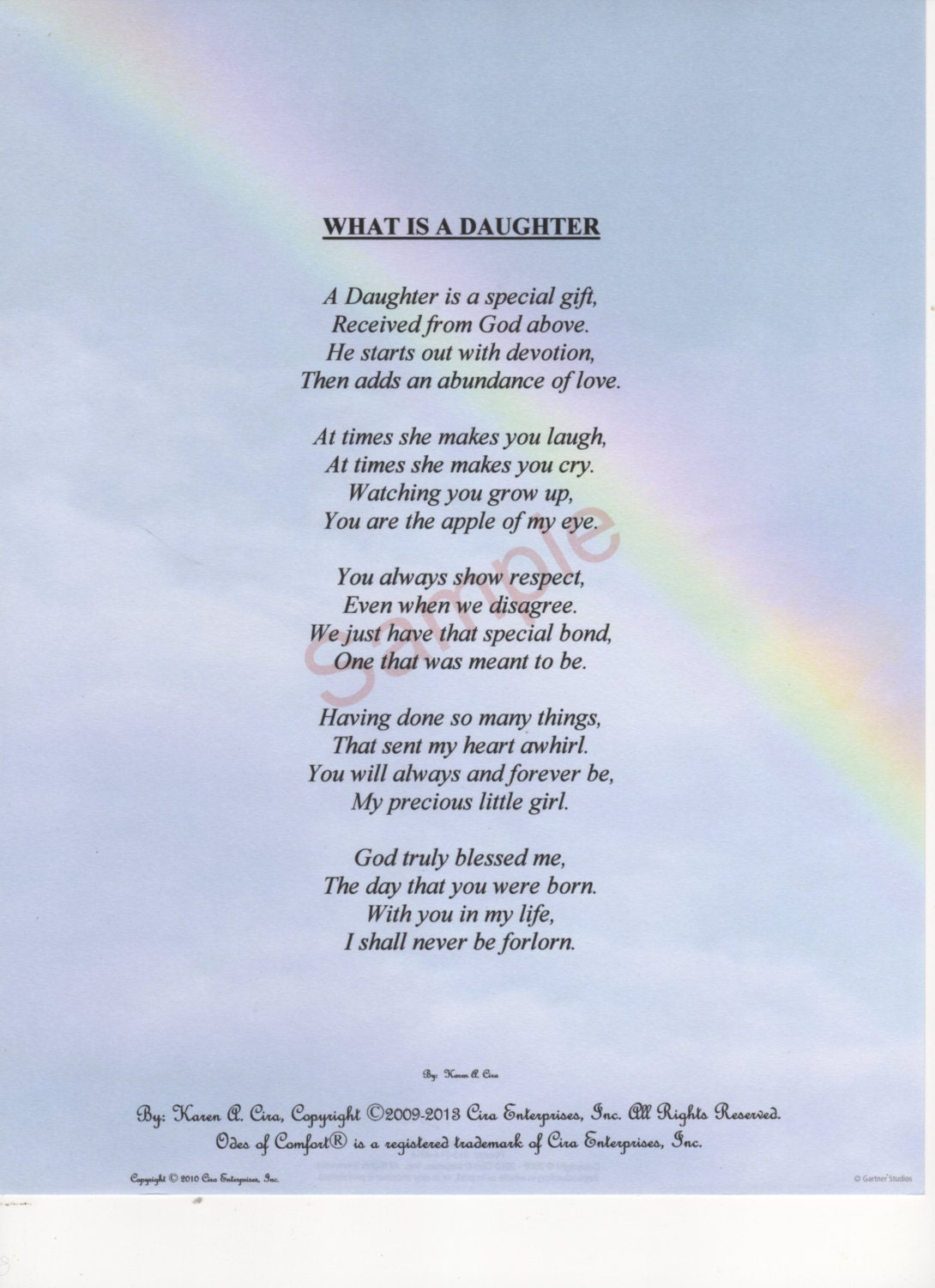 Five Stanza What Is A Daughter Poem shown on | Etsy