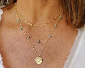 Dainty Layered Necklace Set, Set of 3, Gold, Silver, Three Necklaces, Layering Necklaces, Necklace Set, Layered Set, Dainty, Minimalist