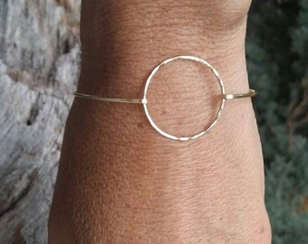 Hammered Bangle, Bracelet, Sterling Silver, or 16K, Gold Fill, Stacking Bangle, Gold Bangle, Silver Bangle, simple bracelet, dainty bracelet