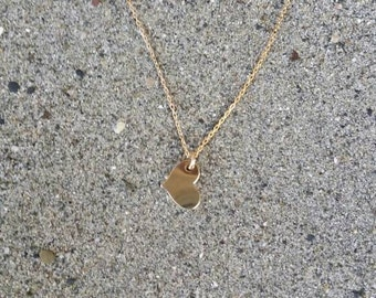 Tiny gold heart necklace, Gold heart, layering necklace, gold fill, tiny heart necklace, tiny heart, Gold heart necklace