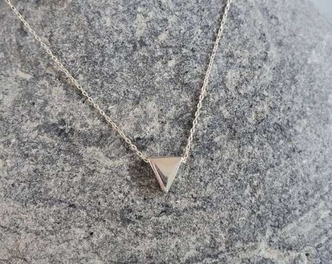 Silver Triangle Necklace, Sterling Silver, Silver Triangle, Silver Necklace, Minimalist Necklace, Triangle, Dainty, Delicate, Triangle