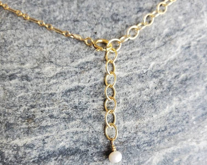 Permanent Necklace Extension Added to Your Necklace, Make Your Necklace Adjustable, Necklace Extender, Gold, Silver, Adjustable Necklace