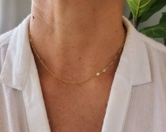 Dainty Sparkle Chain, 14K Gold Fill, Sterling SIlver, Layering Necklace, Delicate, Dainty, Minimalist, Gold, Silver, Necklace