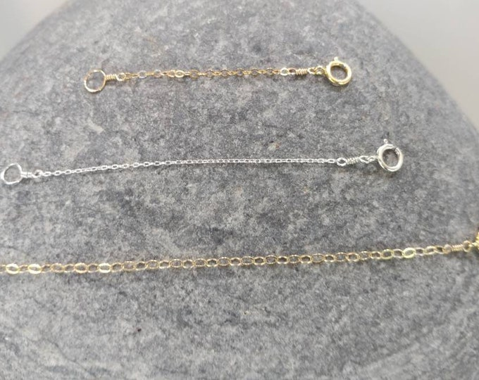 Necklace Extender, Sterling Silver, Gold Filled, Extension, Multi Length, Or, Adjustable, or Fixed, Use on Any Necklace!