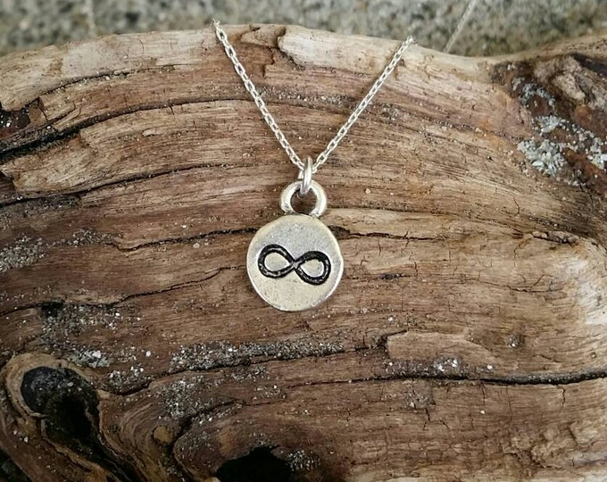 Tiny Infinity Necklace, Silver, Infinity Pendant, Infinity Necklace, Silver Infinity Necklace, Dainty, Delicate, Minimalist necklace