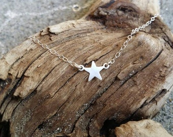 Tiny Sterling Silver Star Necklace, Star, Tiny Star, Sterling Silver, Necklace, Silver Star, Star Necklace, Silver Star Necklace, Dainty