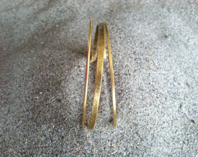 Gold Bangle Bracelet, Set of 3