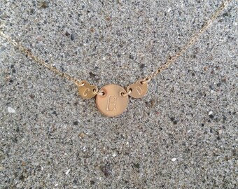 Mothers Necklace, Initial Necklace, Gold, gold heart necklace