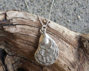 Tiny Shell Necklace, Sea Shell, Silver Necklace