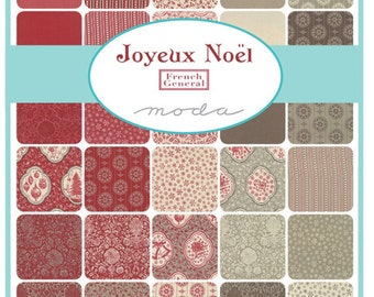 Joyeux Noel Fat Eighth Bundle by French General, Moda Fabrics, Christmas fabric