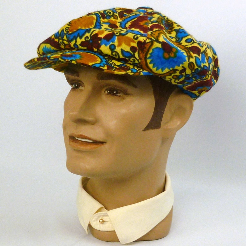 95a02c14346 Newsboy Style Cap Hat 1920s 1930s Style Vintage Multi-Color