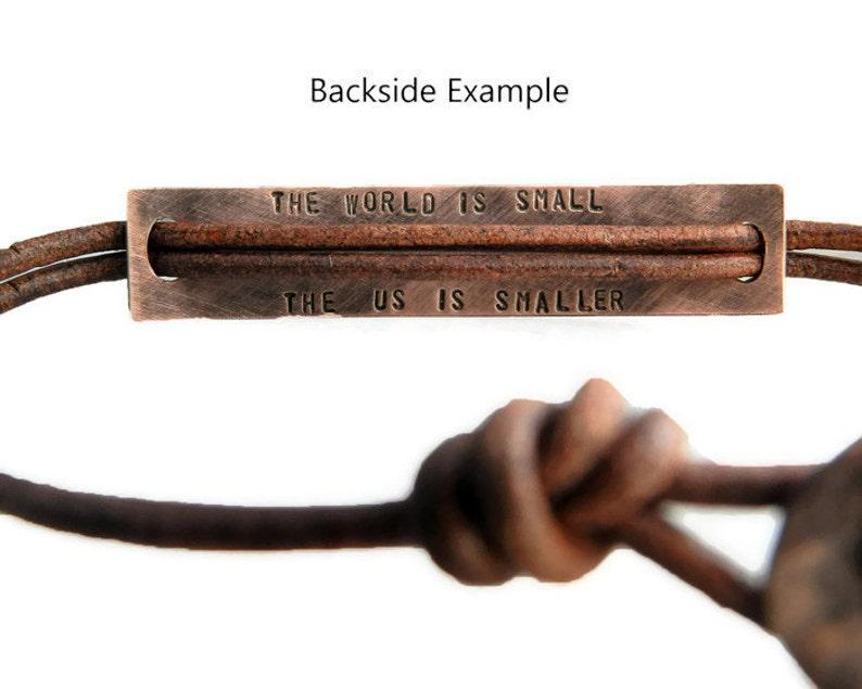 Roman Numerals Date Bracelet Personalized Mens Bracelet Engraved Bracelet Leather Bracelet Custom Bracelet ID Bracelet Copper Bracelet