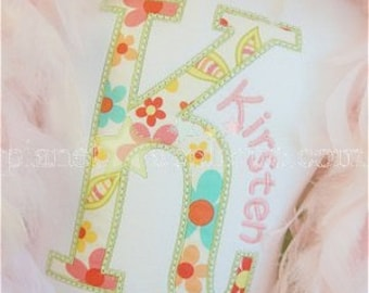 Custom Large Alpha Boutique White Shirt - Embroidery, Applique - Add a name for free!