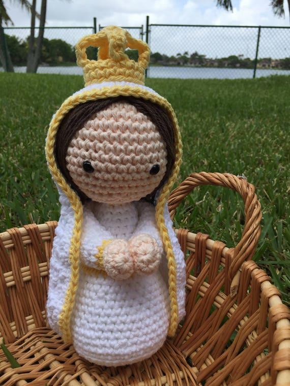 Virgen de Fátima hecho a mano hermoso amigurumi muñeca | Etsy