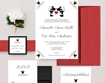 disney wedding invitations etsy