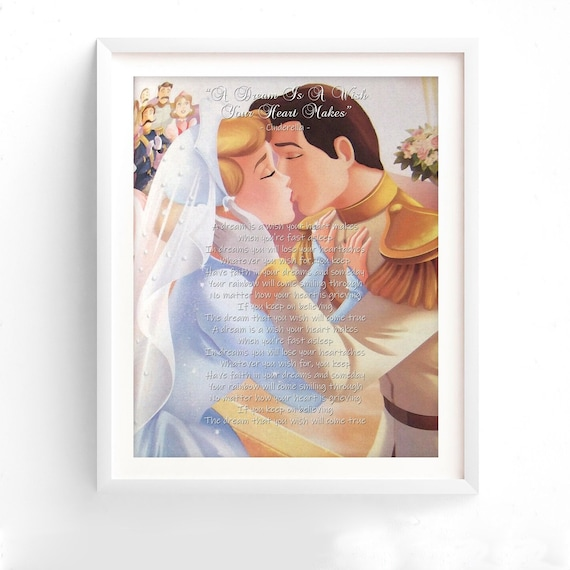 Cinderella And Prince Charming A Dream Is A Wish Your Heart Etsy