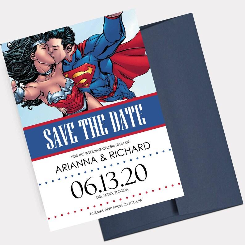 27a4fad8 Superhero Wedding Save the Dates Super Hero Theme Wedding   Etsy