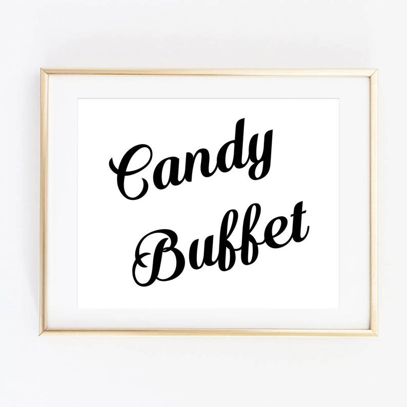 Excellent Candy Buffet Sign Printable Wedding Signs Favor Sign Candy Bar Wedding Reception Signage 8X10 Inches Instant Download Wpdwn2 Interior Design Ideas Tzicisoteloinfo