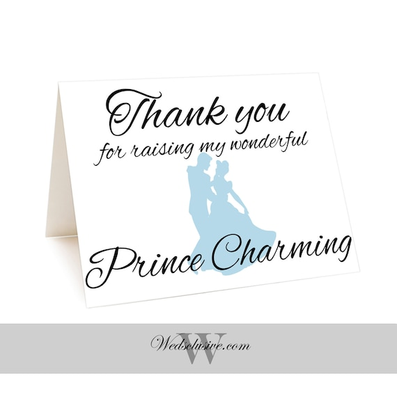 Digital File From Bride PRINTABLE Gift for In Laws Cinderella Future In Laws Card On Wedding Day Card Disney Theme Weddings