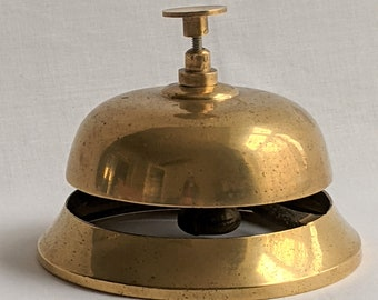 Vintage Desk Bell Counter Bell Shop Bell Hotel Bell Office Bell Works Great Photo Prop RhymeswithDaughter