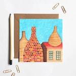 Blue Sky Potteries Stoke Greetings Card