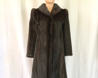 1980's Blackglama Dark Ranch Mink Coat sz. S/M