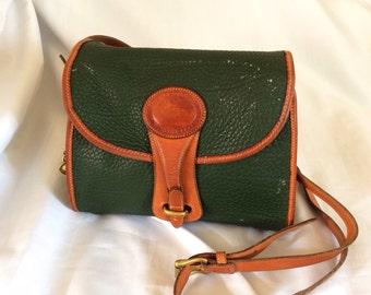 Dooney   Bourke Green Leather Purse Brass Feet 5e73b48e87b54