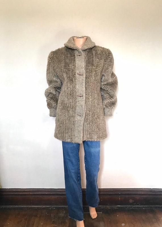 1980's Faux Fur & Chenille Dubrowsky Joseph Jacket