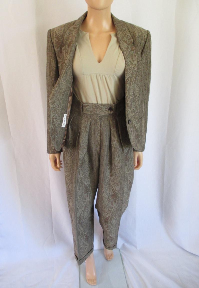 Kenzo Paris Paisley Print WoolCotton Women/'s Suit 28w