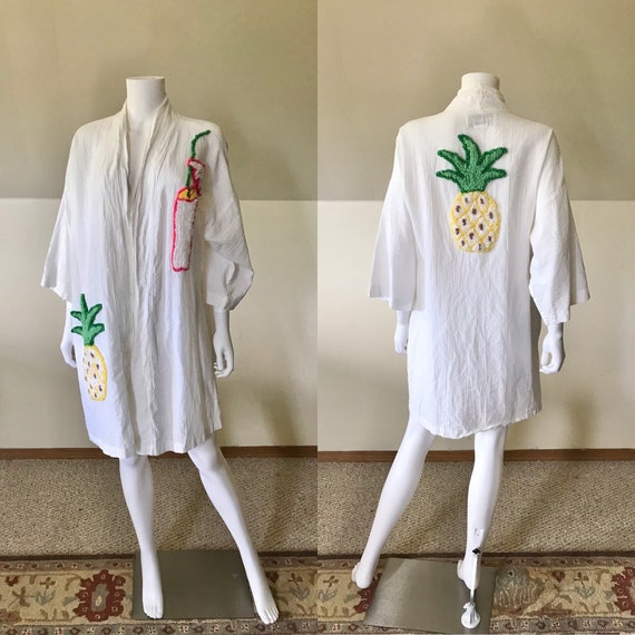 90's Canyon Group Chenille Tropic Isle Robe M/L