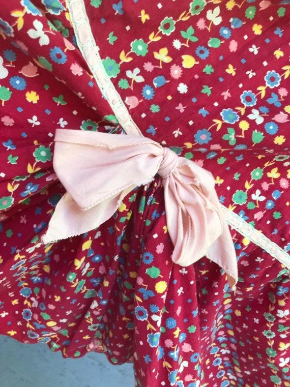 1940's Cotton Calico Hootenanny Dress sz S - image 9