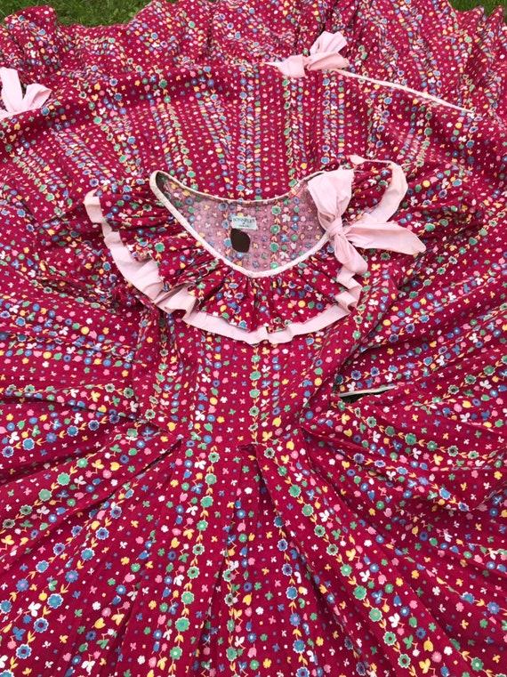 1940's Cotton Calico Hootenanny Dress sz S - image 3
